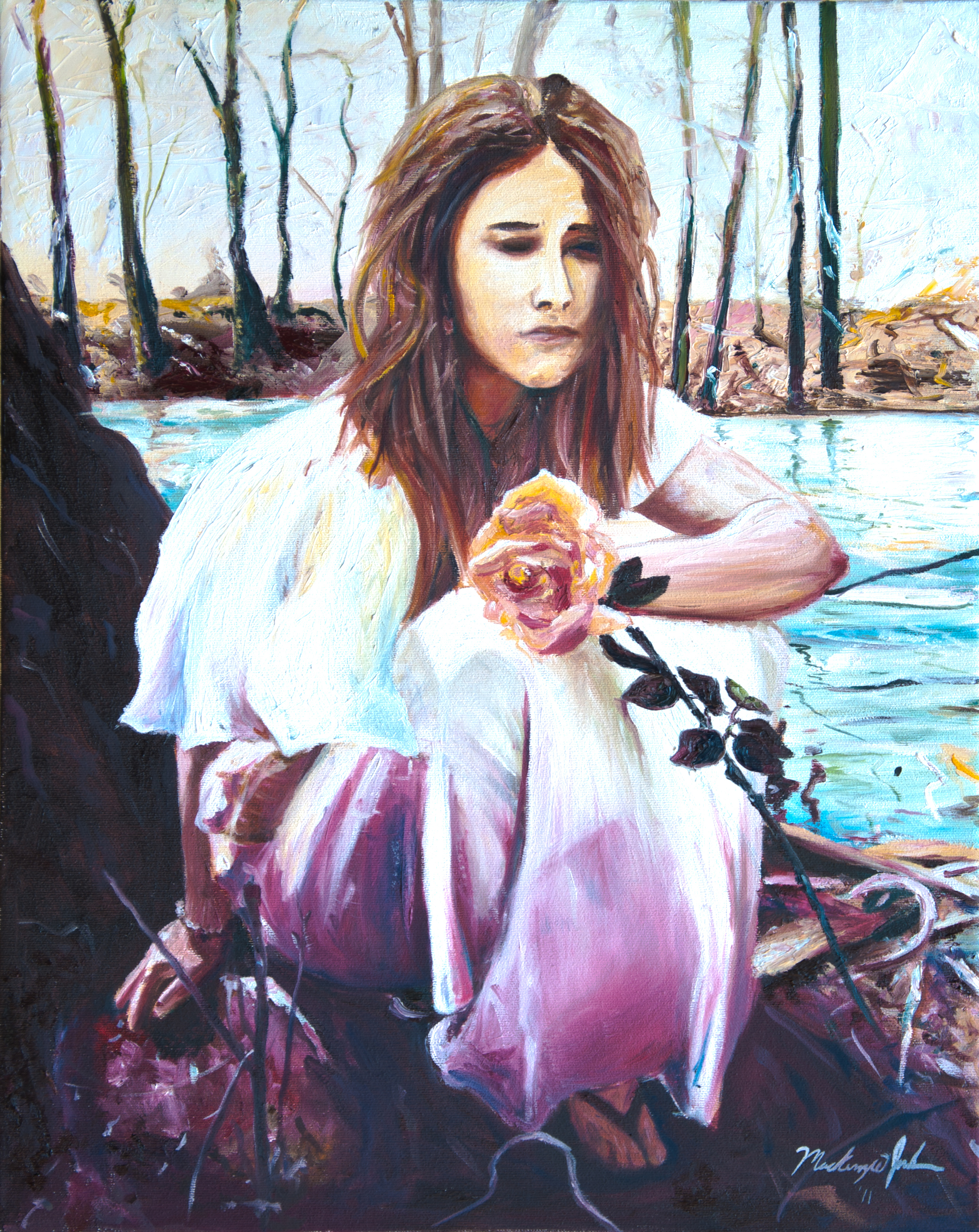 ... portrait of my beautiful friend Lily was done with Waterhouse in mind